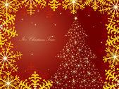 Vánoční přání. vektor — Stock vektor