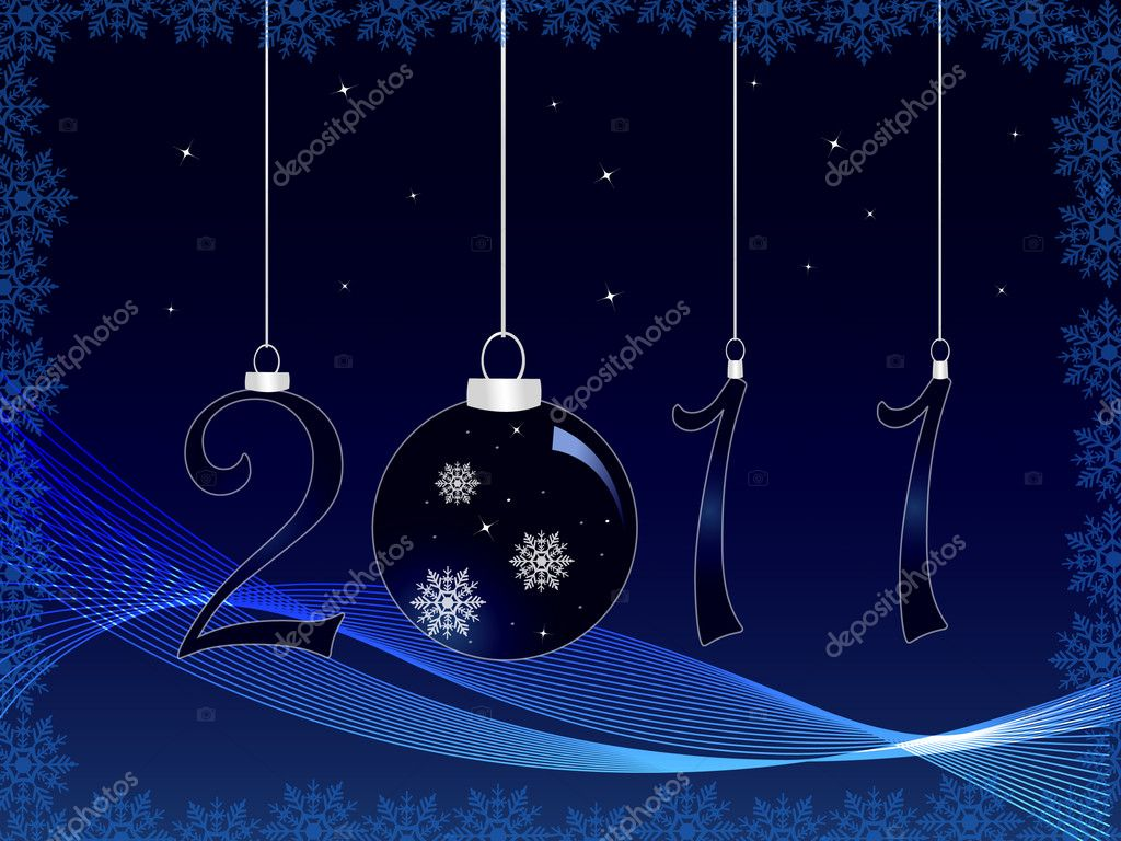 Blue Christmas background — Stock Vector #5772384