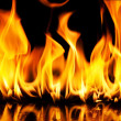 Stock Photo: Close-up of fire and flames on a black background