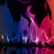 Close-up of fire and flames on a black background — Stock Photo