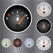 Gas Gauges - Stock Vector