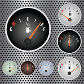 Gas Gauges — Stock Vector