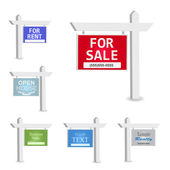 Isolated Signs — Stock Vector