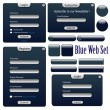 Dark blue web forms — Stock Vector