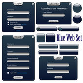 Dark blue web forms — Stock Vector