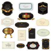 Varias etiquetas vintage — Vector de stock