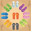 Royalty-Free Stock Vector Image: Colorful  flip flops