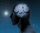 Brain Gears — Stock Photo