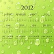 Royalty-Free Stock Vector Image: Green 2012 calendar