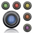 Camera lenses — Vettoriali Stock