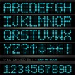 Vetorial Stock : Blue digital letters and numbers