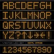 Orange LED numbers and letters - Imagen vectorial