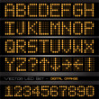 Orange LED numbers and letters - Vektorgrafik