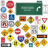 Road Signs — Vetorial Stock