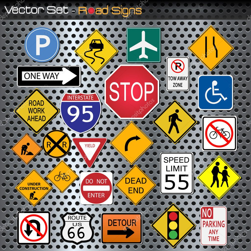 Road signs stock vector nmarques74 6631820 for De signs