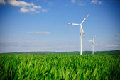 Wind energy turbine power station — Stock Photo