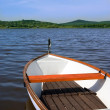 Lake with boat — Stock Photo