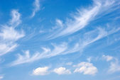 Fluffy clouds on the sky — Stock Photo
