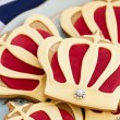 Stock Photo: Royal wedding cookies