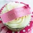 Royalty-Free Stock Photo: Happy birthday cupcake