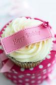 Happy birthday cupcake — Stock Photo