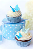 Butterfly cupcakes — Stock Photo