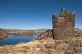 Sillustani tombs in Peru — Stock Photo