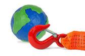Globe und fahrzeugleitung — Stockfoto