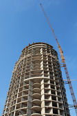 Constructed high-rise building — Stock Photo