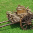 The cart with the barrel — Stockfoto