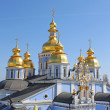 St. Michael's Golden-Domed Monastery - famous church complex in Kiev, — Stock Photo #5531373
