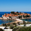 Sveti Stefan (St. Stefan) island in Adriatic sea, Montenegro - Stock Photo