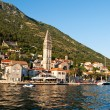 Sea view of Perast town in Kotor bay, Montenegro — Stock Photo #6639519