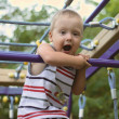 A little boy on playground — Stock Photo