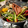 Vegetarian barbeque — Stock Photo