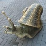 Decorative snail on the street — Stock Photo #6254063