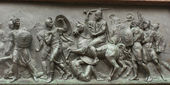 Bas-relief on the monument to Minin and Pozharsky in Moscow — Stock Photo
