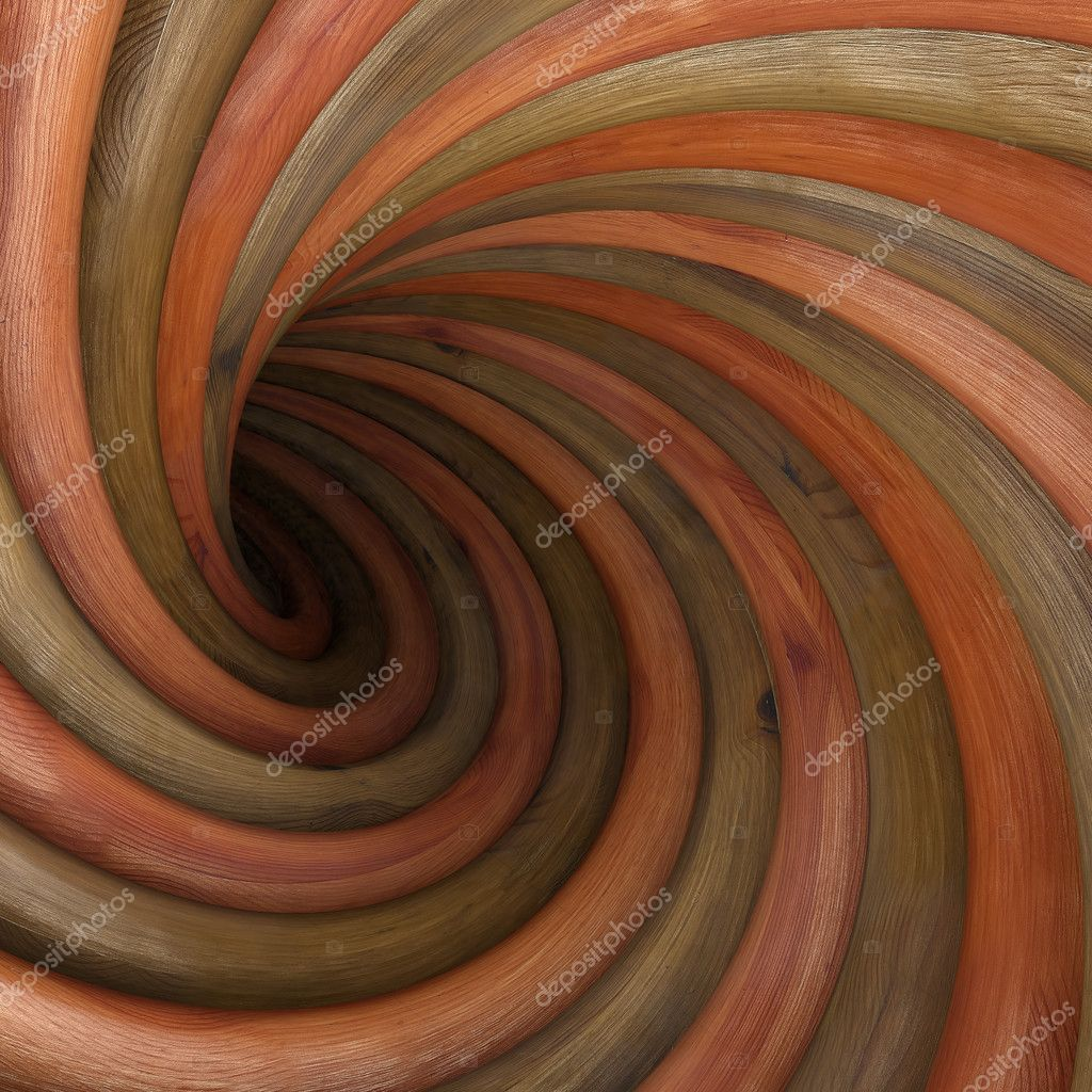 Abstract wood twisted tunnel  Stock Photo #5463909