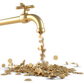 Golden tap — Stock Photo