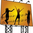 Stock Vector: Billboard - Preview of musical events