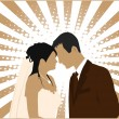 Married Couple - vector illustration — Imagens vectoriais em stock