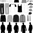 hommes s'habillent collection, vectorielle fonctionne-t-il — Image vectorielle