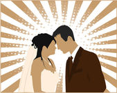 Married Couple - vector illustration — Vector de stock