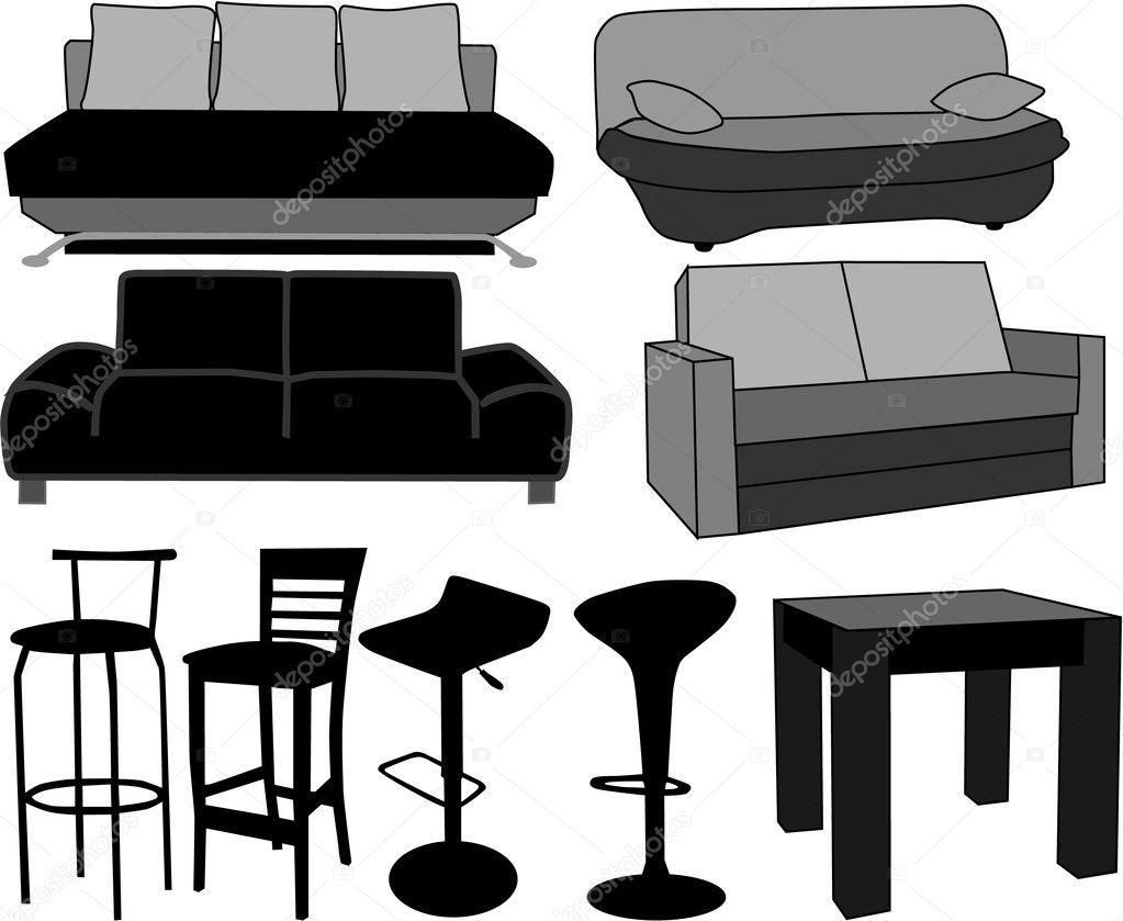 Muebles muebles trabajando con vectores vector de stock for Stock de muebles
