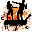 Party - dancing couple on the grunge background - Stock Vector