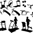 Stock Vector: Gym equipment, made in image vectors