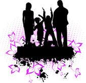 Family -grunge background — Stock Vector