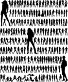 Big collection - fashion women — Stock Vector