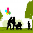 Family in nature — Stock Vector