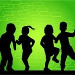 Profiles of crazy kids - work vectors — Stock Vector